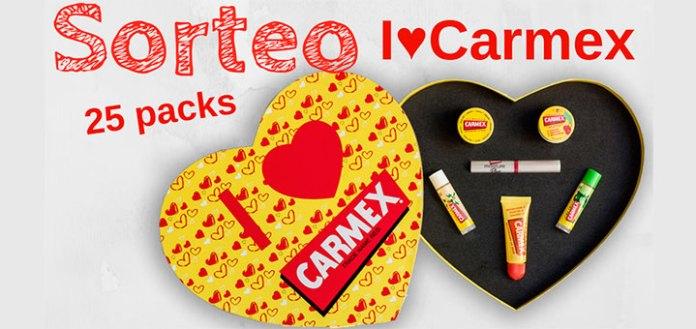 Sortean 25 packs I ♥ Carmex en San Valentín