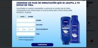Sortean 60 lotes de Nivea Body Milk