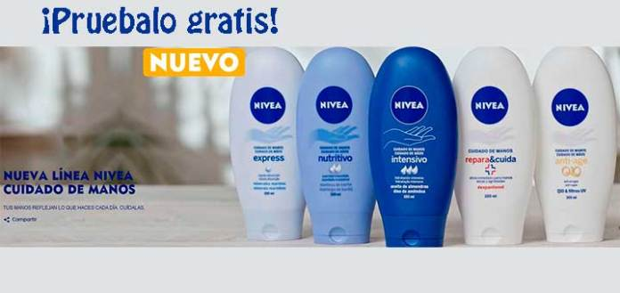 Sortean 50 cremas de manos Nivea