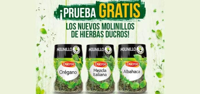 Prueba gratis los molinillos de hierbas Ducros