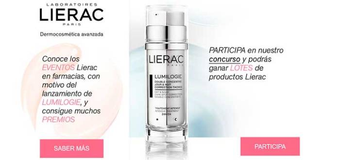 Gana lotes de productos Lierac