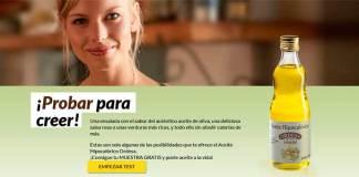 Muestras gratis de Aceite Hipocalórico Ordesa