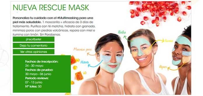 Prueba gratis la nueva Rescue Mask de Garnier