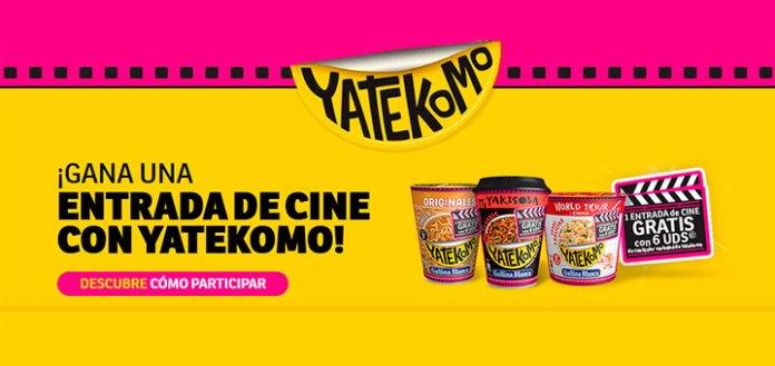 Entradas de cine gratis con Yatekomo
