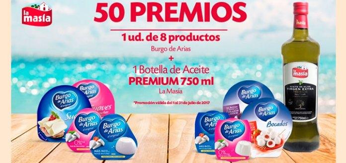 Gana un lote de productos Burgo de Arias & La Masía