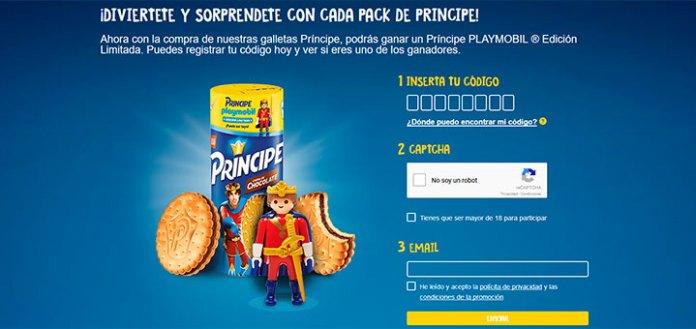 Gana un príncipe Playmobil con galletas Príncipe