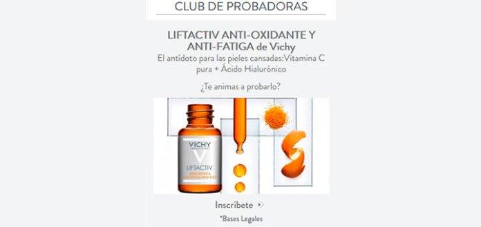 Prueba gratis Lifactiv Anti-Oxidante y Anti-Fatiga de Vichy