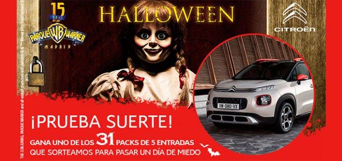 Citroën sortea entradas al Parque Warner en Halloween