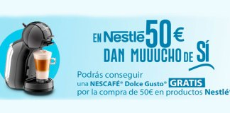 Consigue una Nescafé Dolce Gusto gratis con Nestlé