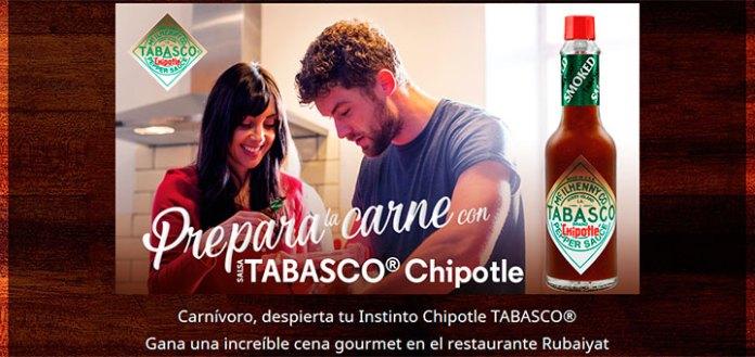Gana una cena gourmet con Tabasco Chipotle