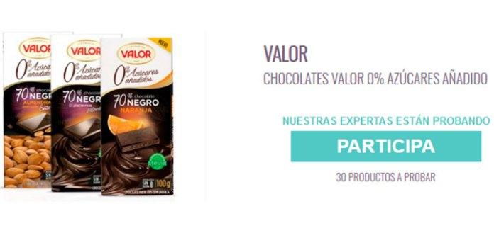 Prueba gratis Chocolate Valor 0% azúcares añadido