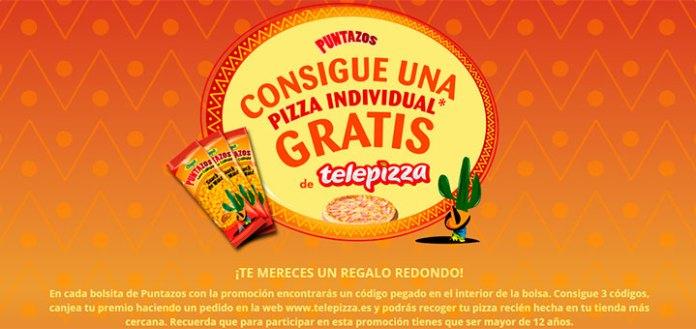 Consigue una pizza gratis con Puntazos