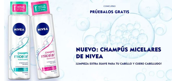 Prueba gratis los nuevos champús micelares de Nivea