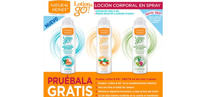 Prueba gratis Natural Honey Lotion & Go