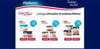 Cupones de descuento en productos Maheso