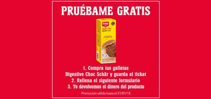 Prueba gratis Galletas Digestive Choc Schär