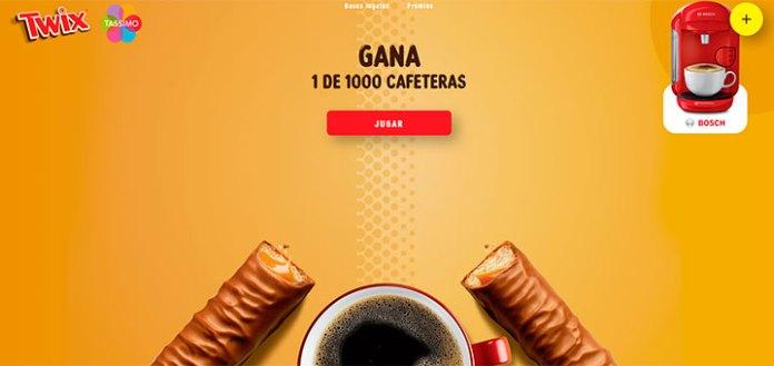 Twix sortea 1.000 cafeteras Tassimo