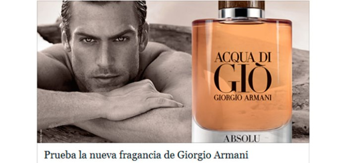 Muestras gratis de Acqua Di Giò Absolu de Giorgio Armani