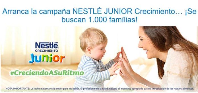 Nestlé Bebé busca 1.000 embajadores de Nestlé Junior Crecimiento