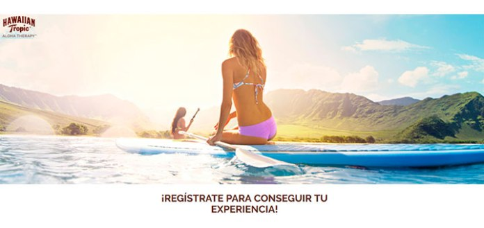 Consigue una experiencia con Hawaiian Tropic