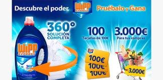 WiPP Express sortea 100 tarjetas de 100€ y 3.000€ para tu compras
