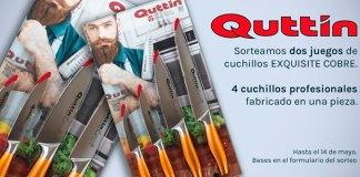 Quttín sortea dos juegos de cuchillos Exquisite Cobre