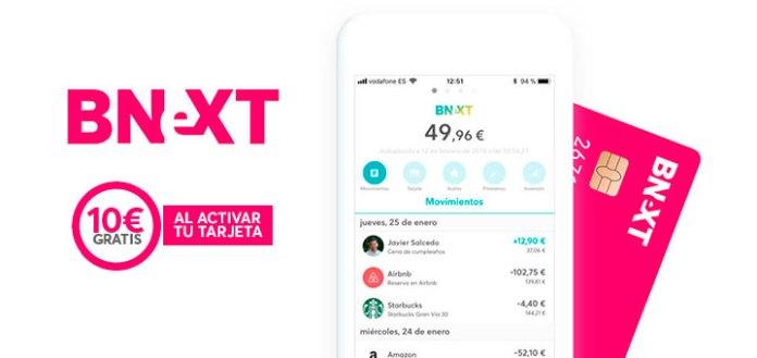 Consigue 10€ gratis con Bnext