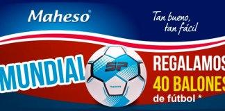Maheso regala 40 balones de fútbol