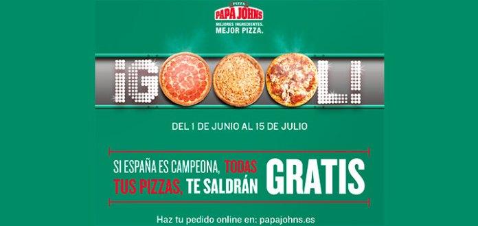 Pizzas gratis en Papa John's si España gana el mundial