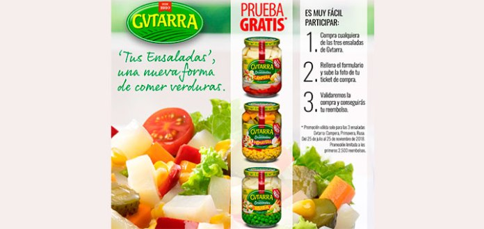 Prueba gratis ensaladas Gvtarra