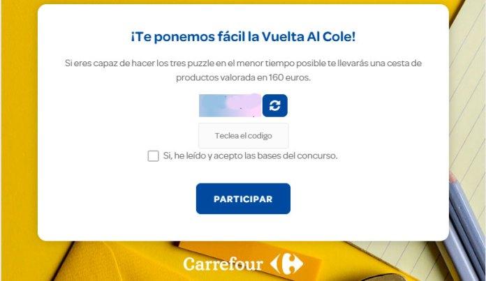 Llévate una cesta de productos con Carrefour