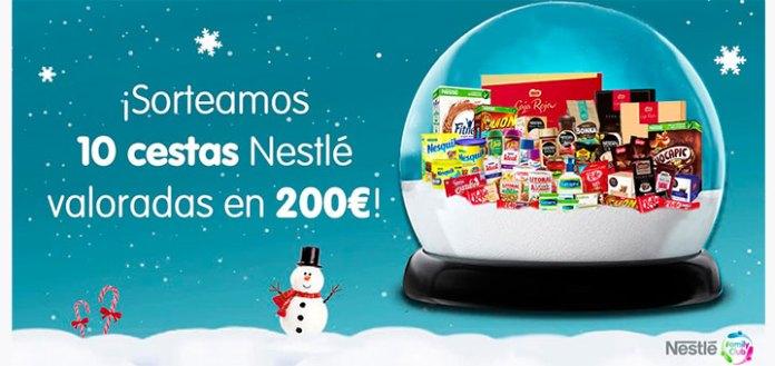 Nestlé sortea 10 cestas valoradas en 200€