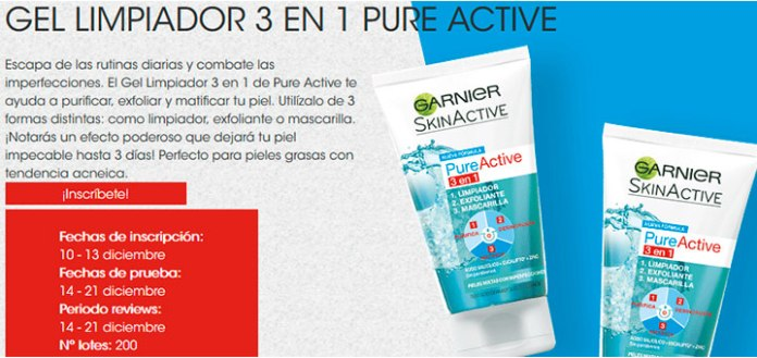 Dan a probar gratis Gel Limpiador de Pure Active