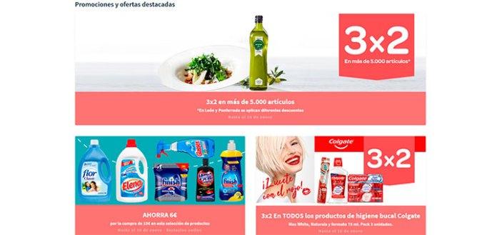 3x2 en Carrefour