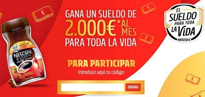 Gana un sueldo de 2.000€ al mes con Nescafé