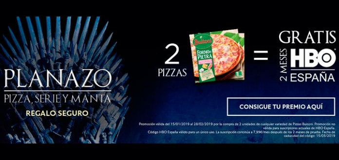 HBO gratis con Buitoni