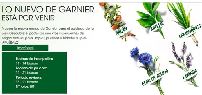 Prueba gratis lo nuevo de Garnier