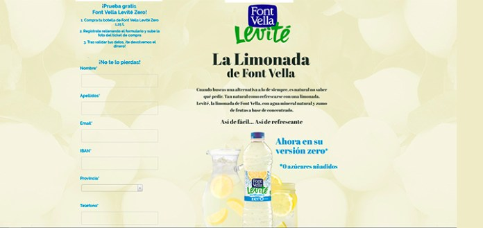 Prueba gratis Font Vella Levité Zero