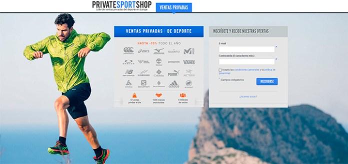 Ahorra al disfrutar de descuentos de hasta el 70% en Private Sport Shop