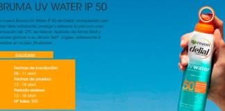 Garnier da a probar gratis Bruma UV Water Ip 50