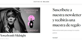 Dan a probar gratis Flowerbomb Midnight de Viktor & Rolf