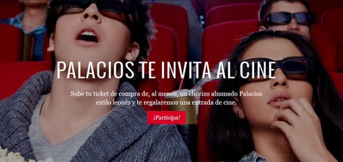 Entradas de cine gratis con Palacios