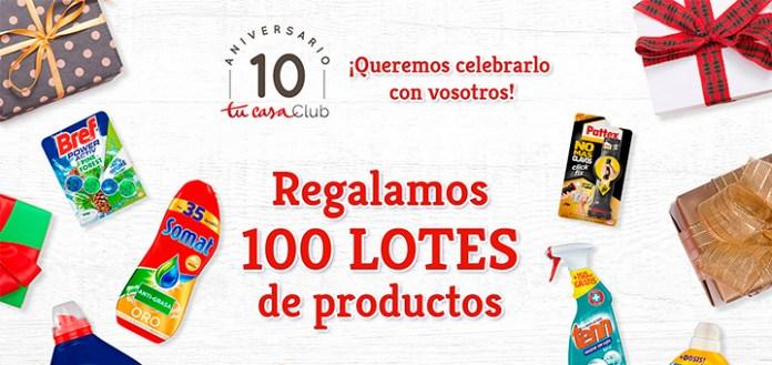 Tu Casa Club regala 100 lotes de productos