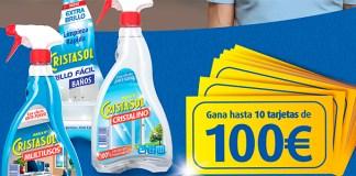 Gana hasta 10 tarjetas de 100€ con Cristasol