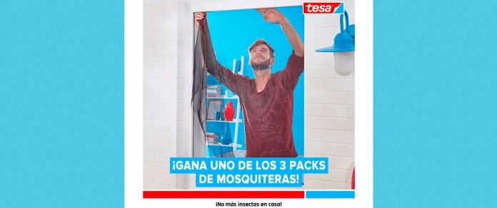 Sortean 3 packs de mosquiteras Tesa
