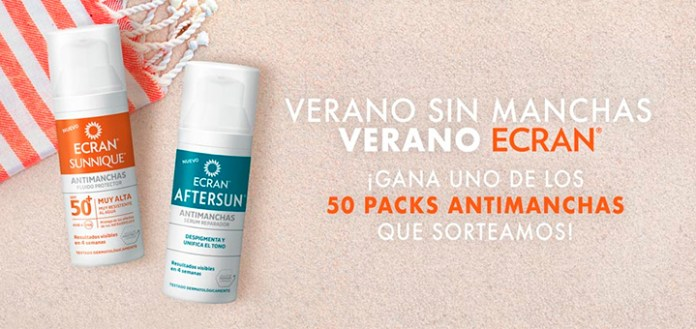 Sortean 50 packs Antimanchas Ecran