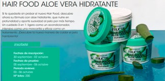 Garnier da a probar gratis Hair Food Aloe Vera Hidratante