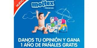 Gana un año de pañales Moltex gratis