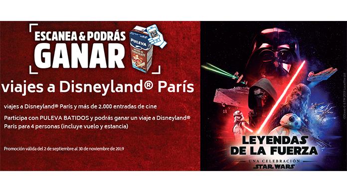 Gana viajes a Disneyland París con Puleva Batidos