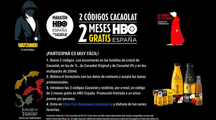 Disfruta de 2 meses de HBO gratis con Cacaolat